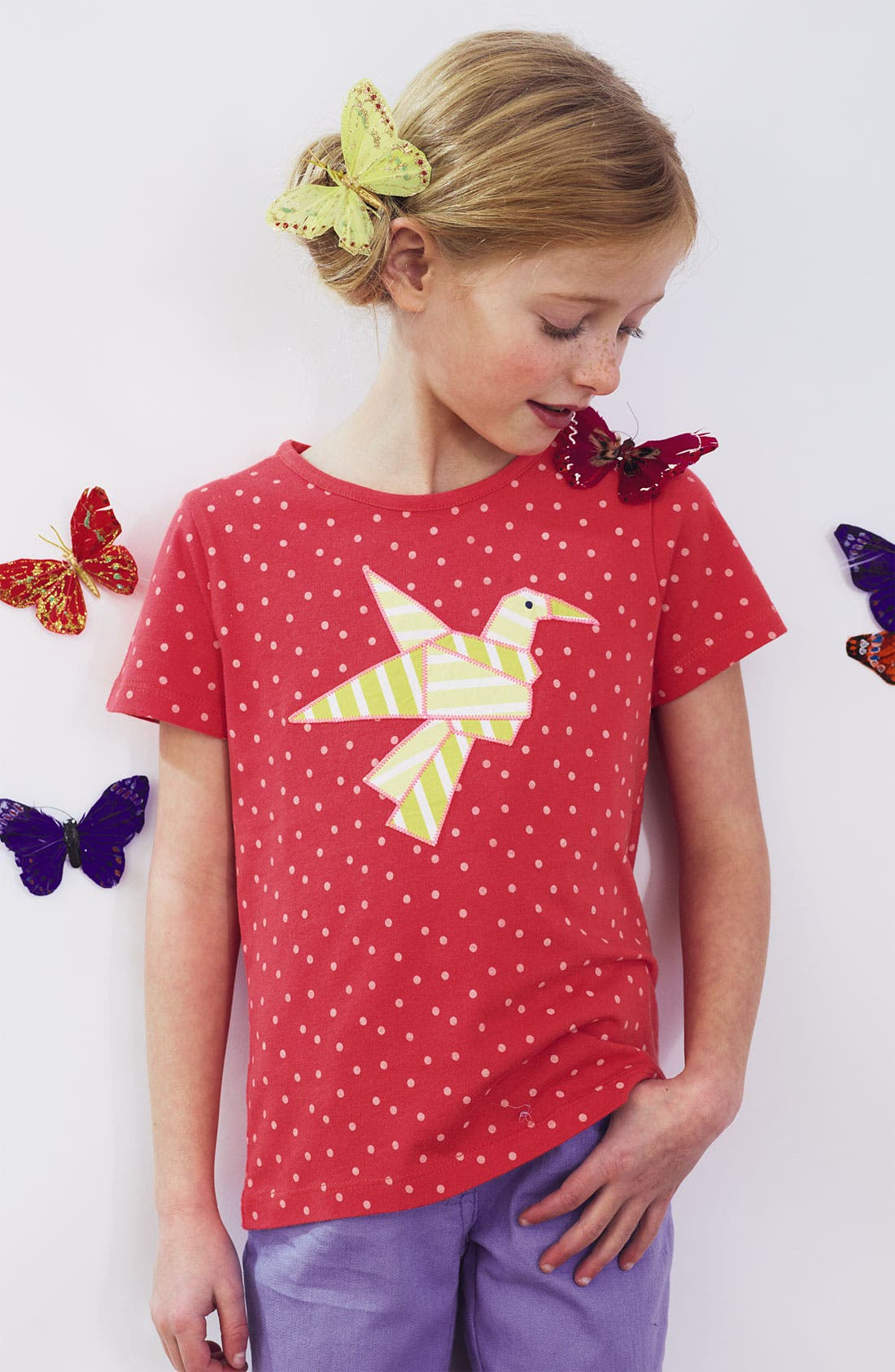 Alternate Image 2  - Mini Boden 'Origami' Appliqué Tee (Little Girls & Big Girls)