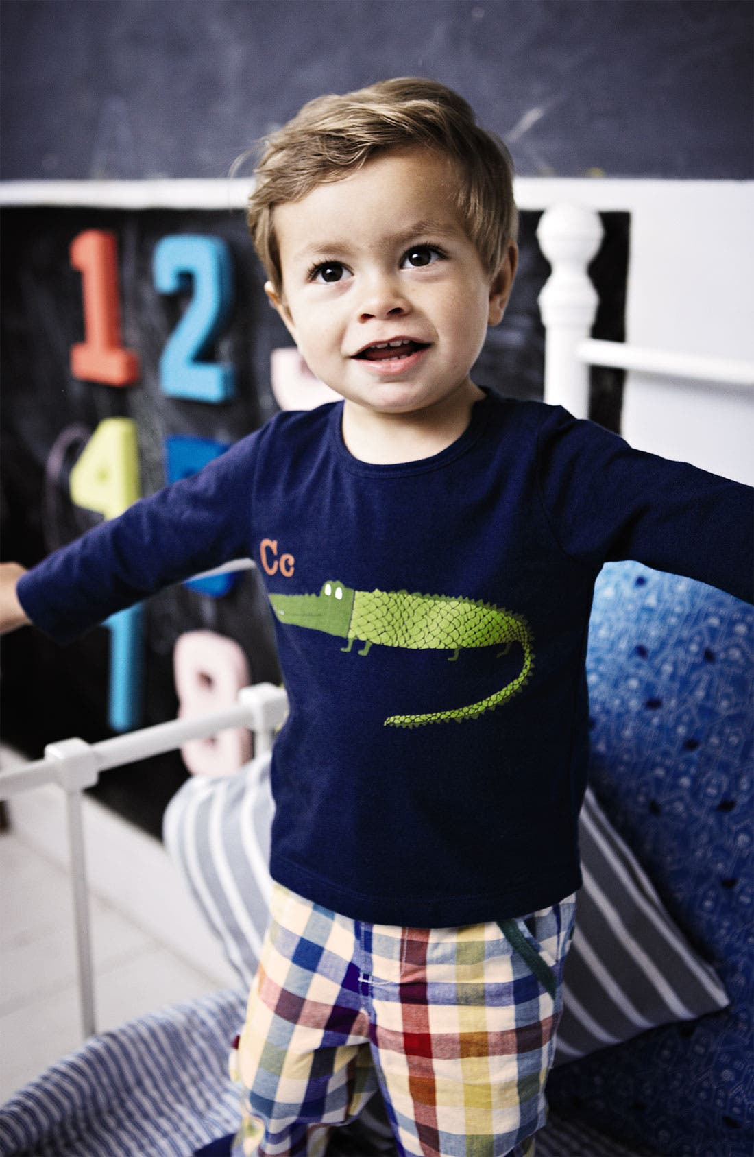 Alternate Image 2  - Mini Boden 'Alphabet Print' T-Shirt (Infant)