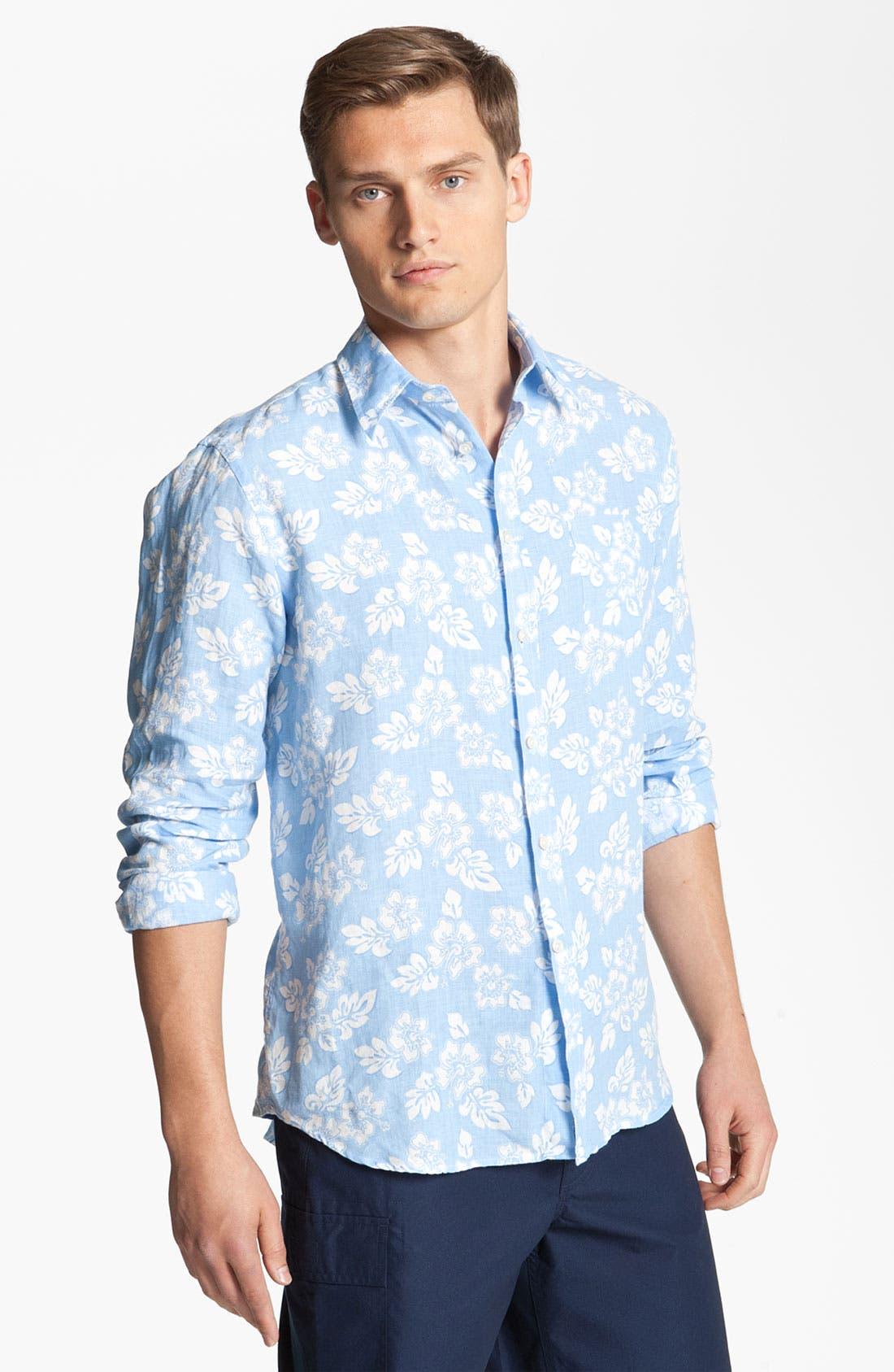Alternate Image 1 Selected - Vilebrequin Print Linen Shirt