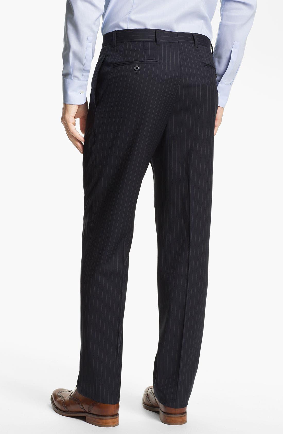 Alternate Image 5  - Joseph Abboud Trim Fit Peak Lapel Stripe Suit