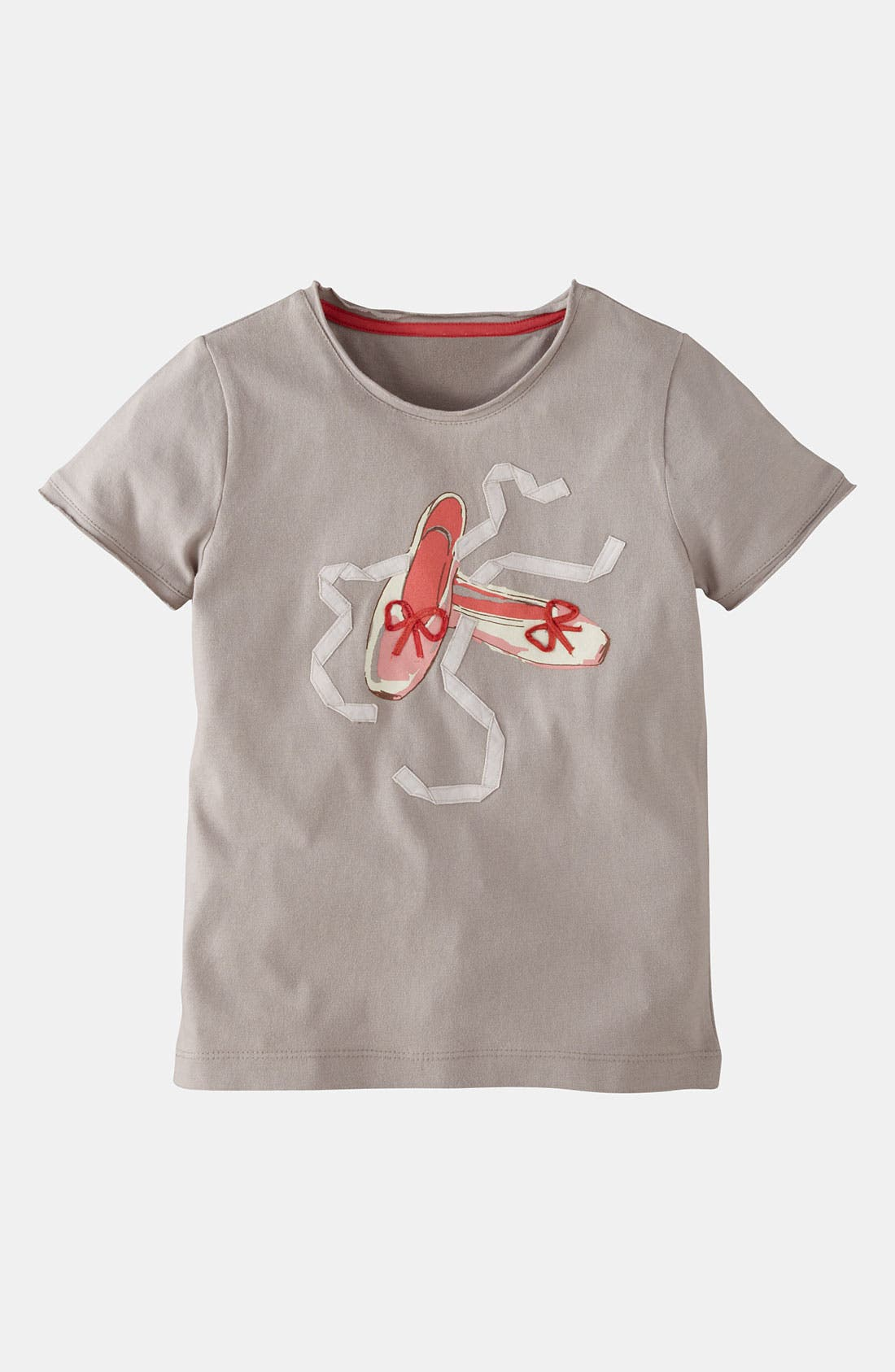 Alternate Image 1 Selected - Mini Boden 'Pretty' Appliqué Tee (Toddler Girls)