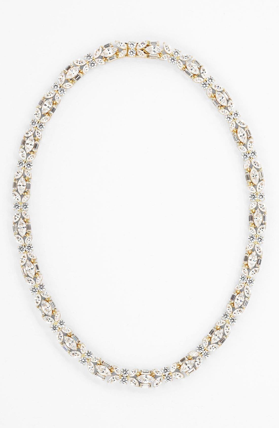 Alternate Image 2  - Nadri Cubic Zirconia Cluster Collar Necklace (Nordstrom Exclusive)