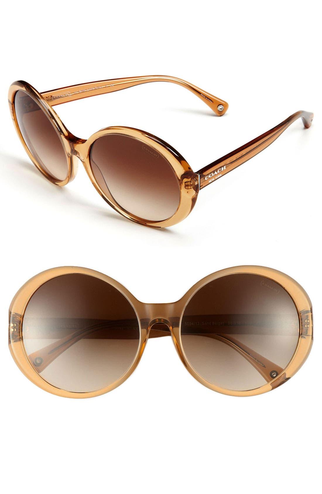 Main Image - COACH 58mm Retro Oversized Sunglasses