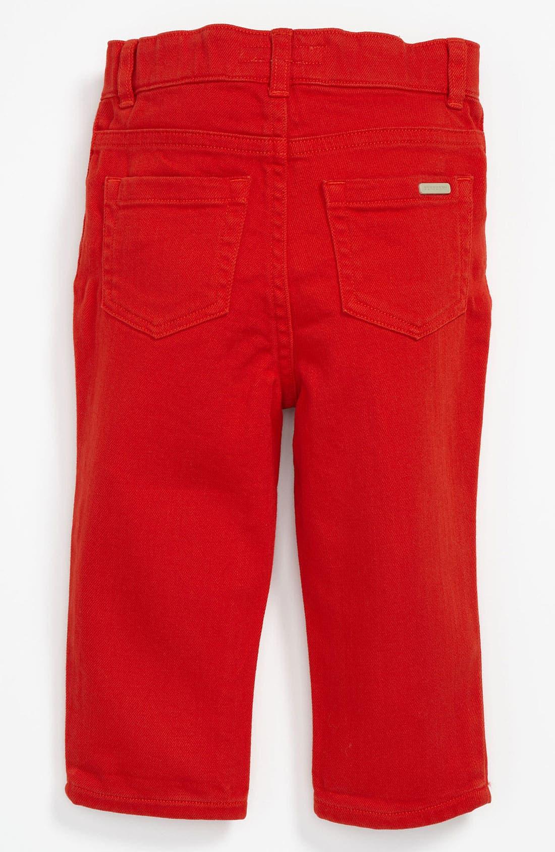 Alternate Image 1 Selected - Burberry 'Langston' Skinny Leg Jeans (Toddler)