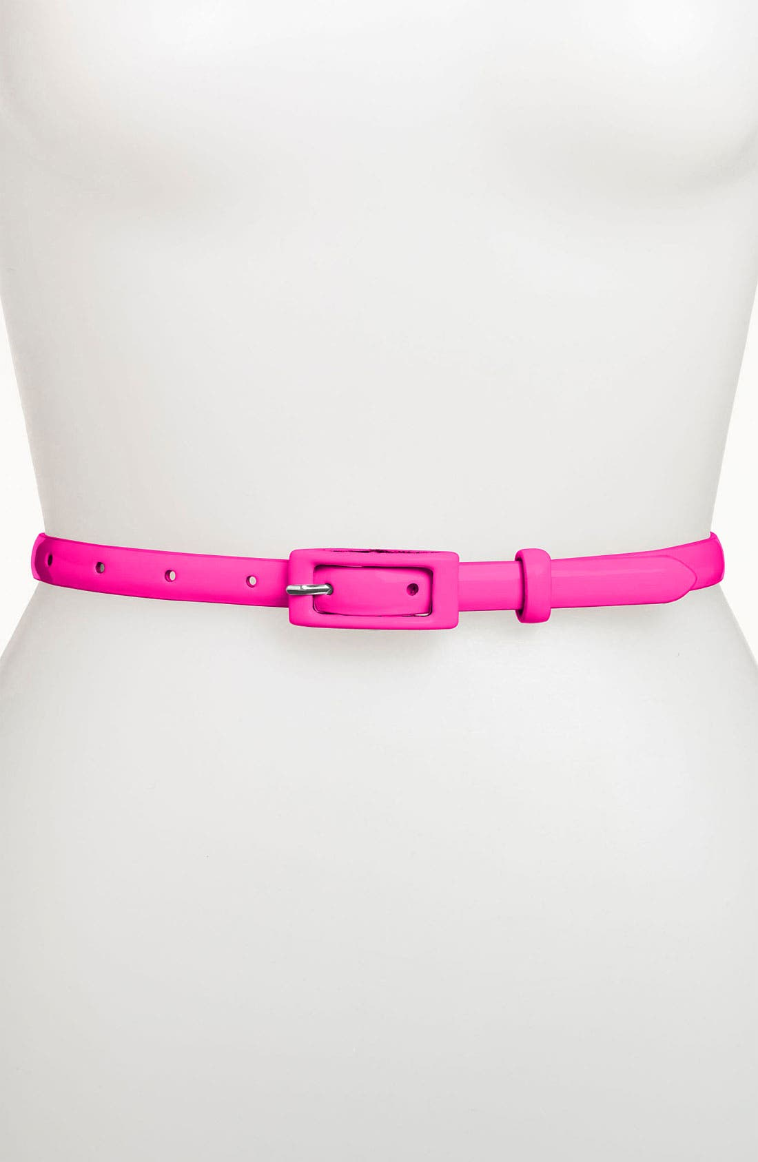 Main Image - Another Line 'Updated' Skinny Patent Belt