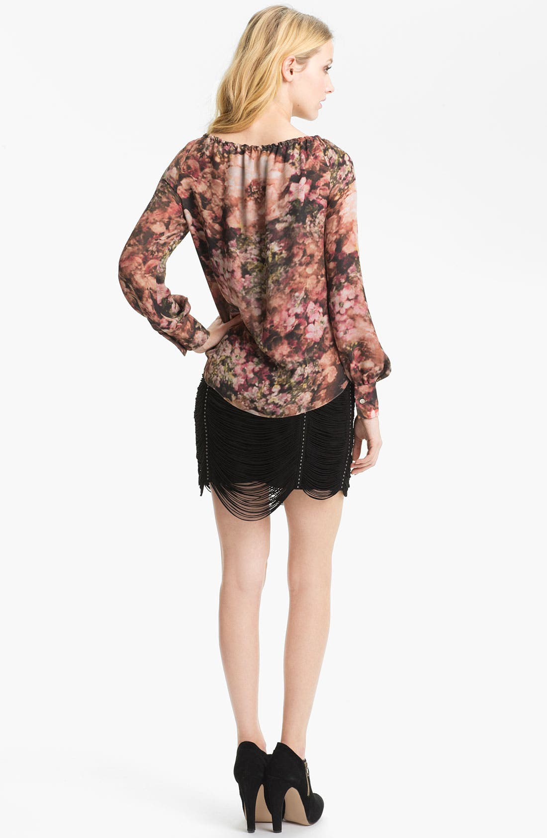 Alternate Image 5  - Haute Hippie Photo Floral Peasant Blouse