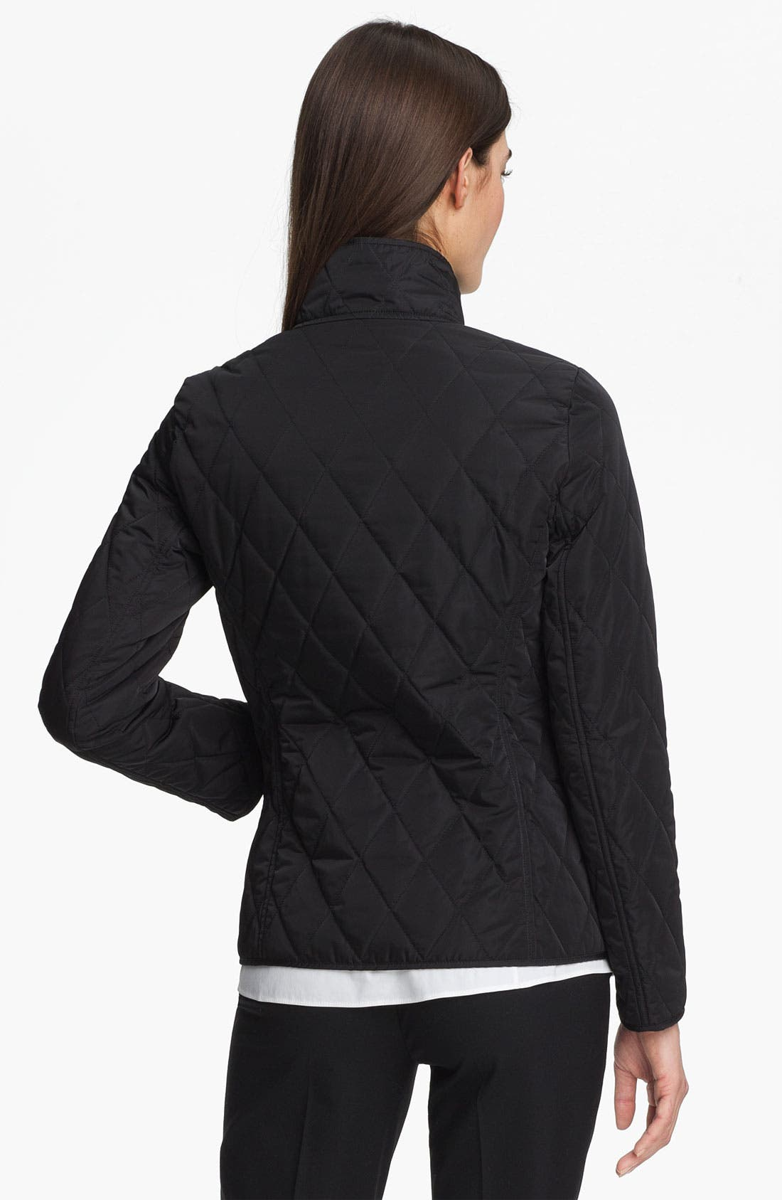 Alternate Image 2  - Lafayette 148 New York Stand Collar Quilted Jacket