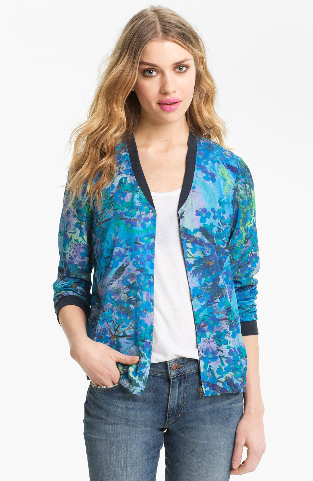 Alternate Image 1 Selected - Hinge® Print Baseball Jacket