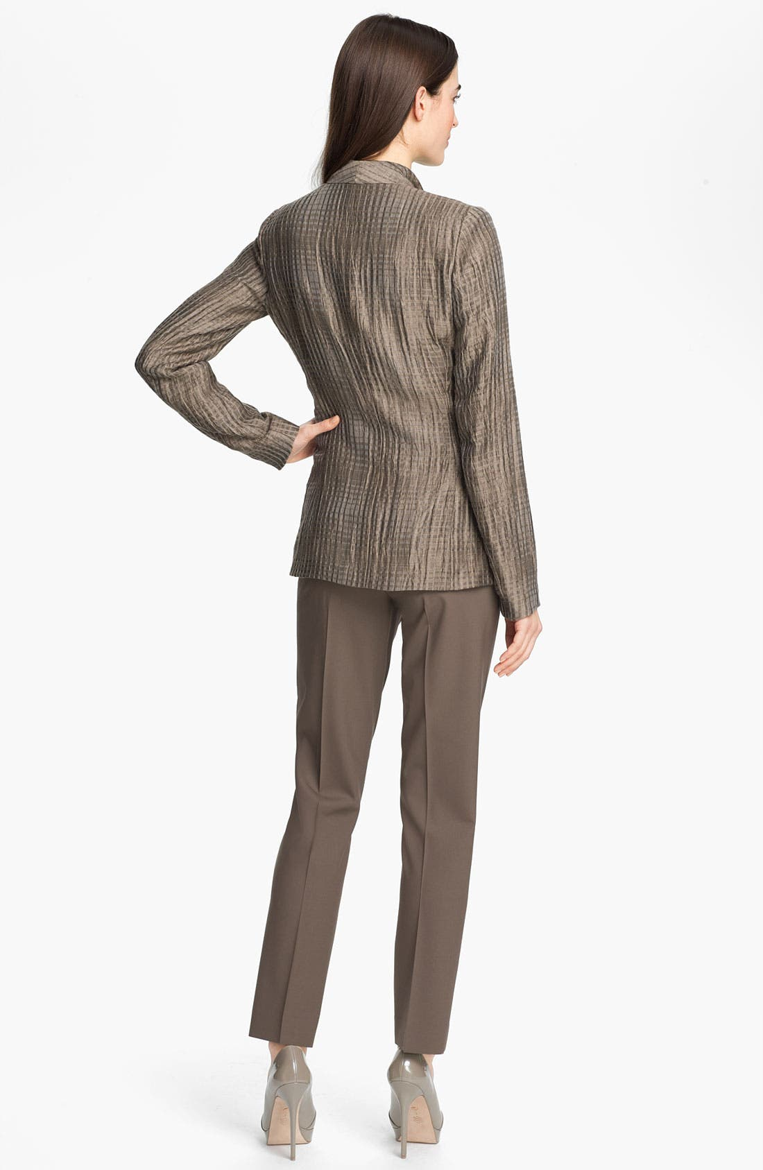 Alternate Image 5  - Lafayette 148 New York 'Beau - Thatched Linen' Jacket