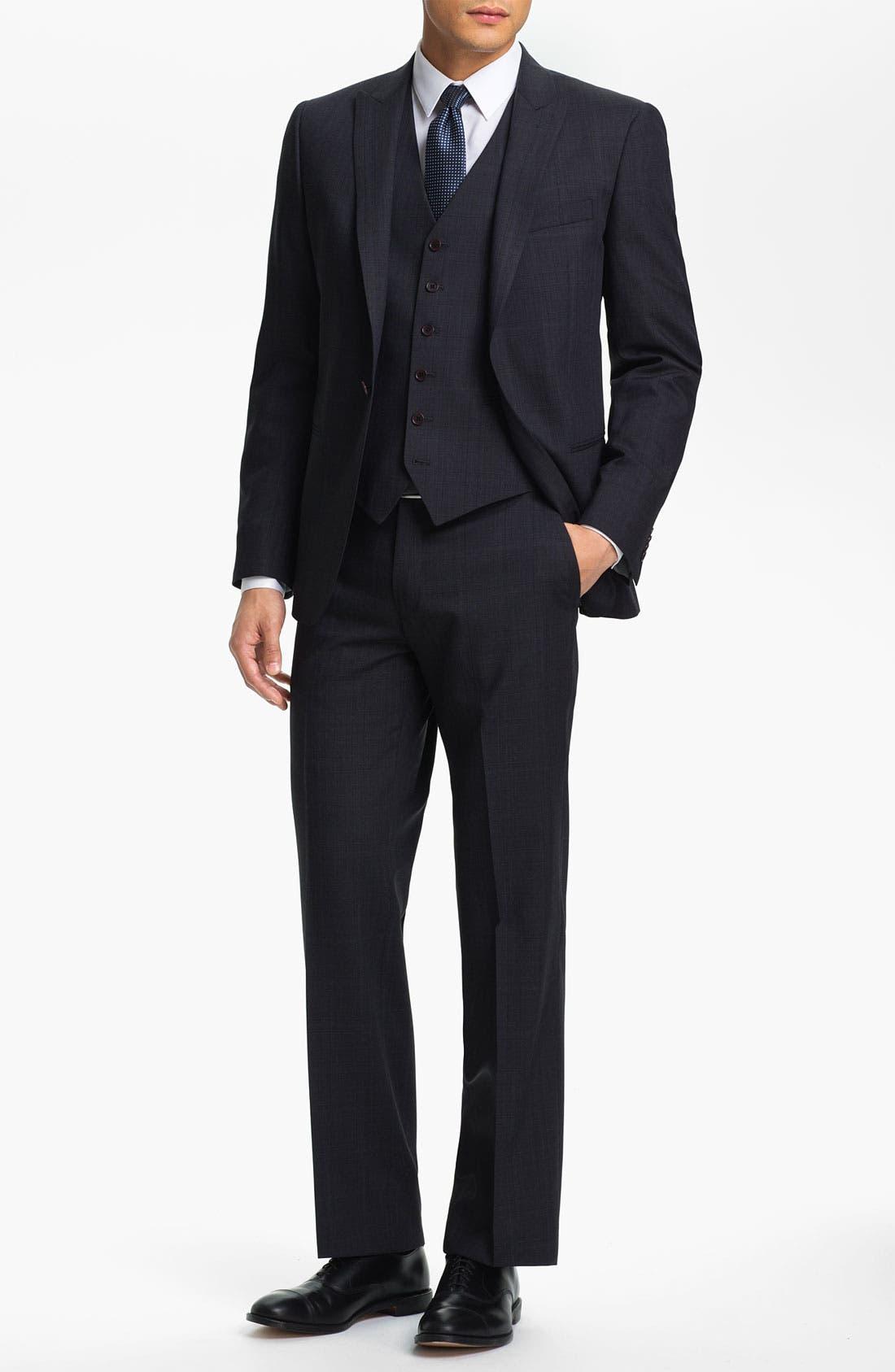 Alternate Image 2  - John Varvatos Star USA 'Irving' Trim Fit Three Piece Suit
