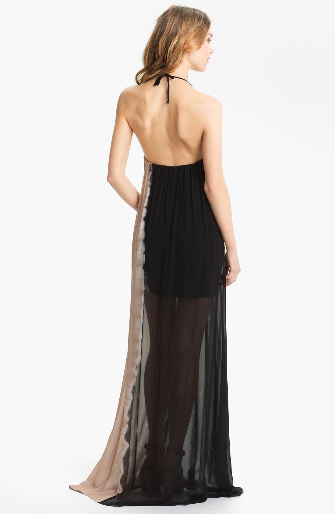Alternate Image 2  - Young, Fabulous & Broke 'Gila' Chiffon Maxi Dress
