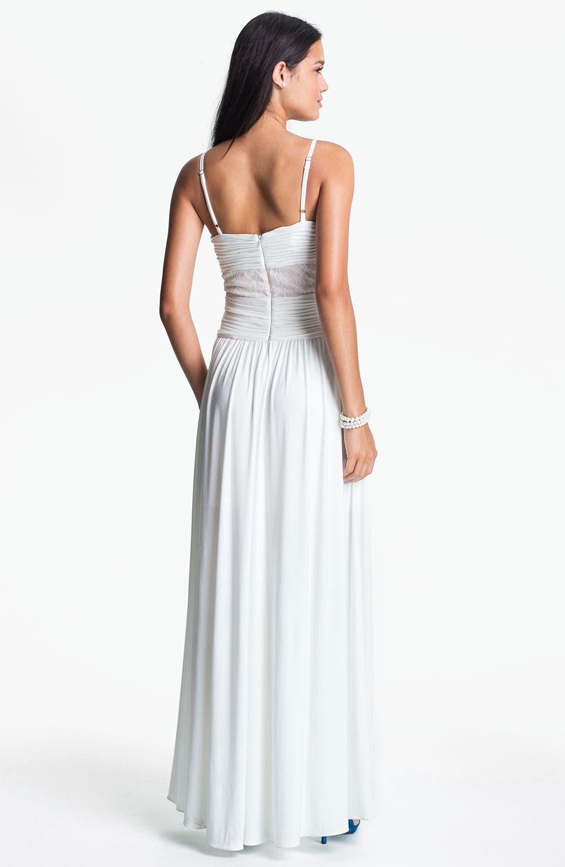 Alternate Image 2  - Max & Cleo Front Twist Jersey Dress