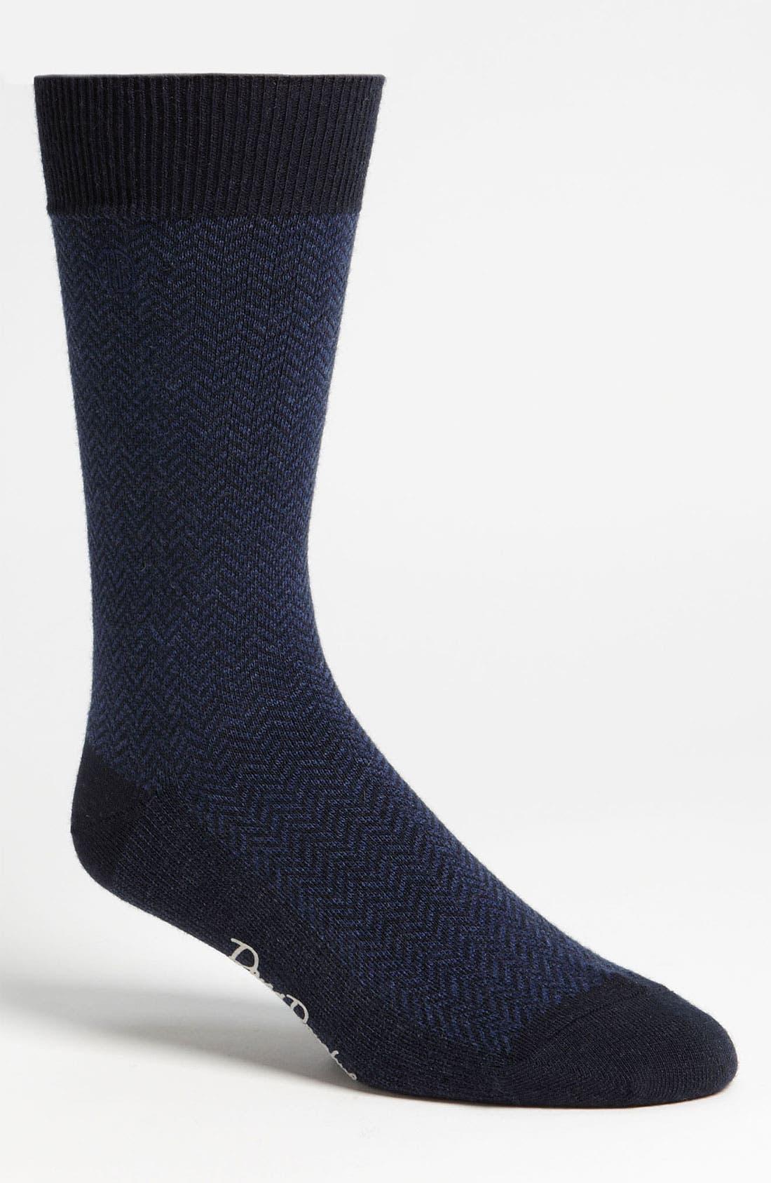 Main Image - David Donahue Wool Blend Socks