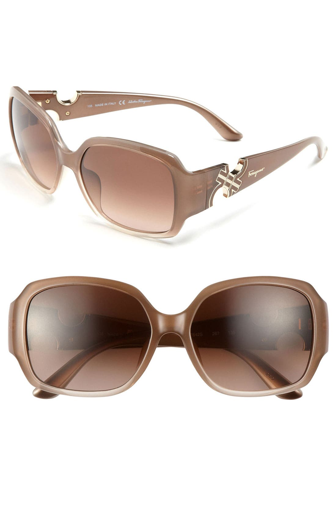 Main Image - Salvatore Ferragamo Oversized Sunglasses