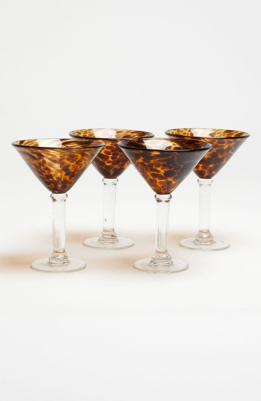 Alternate Image 1 Selected - Tortoiseshell Martini Glasses (Set of 4)
