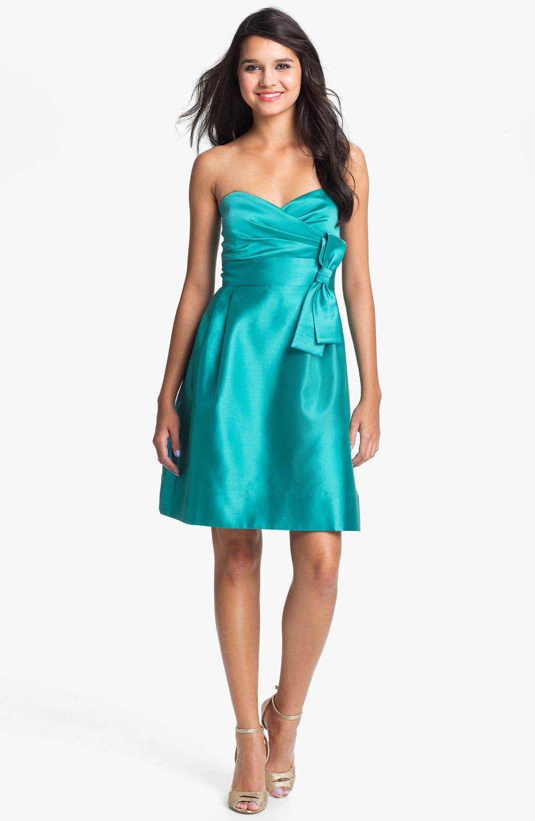 Main Image - Eliza J  Strapless Sweetheart Fit & Flare Dress