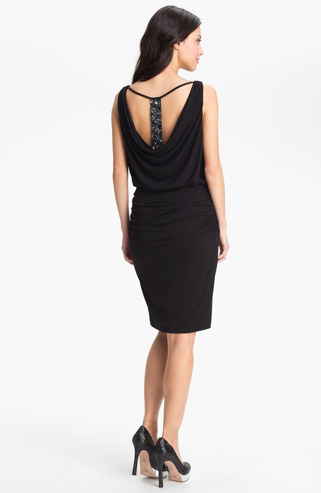 Alternate Image 2  - Maggy London Embellished T-Back Draped Sheath Dress