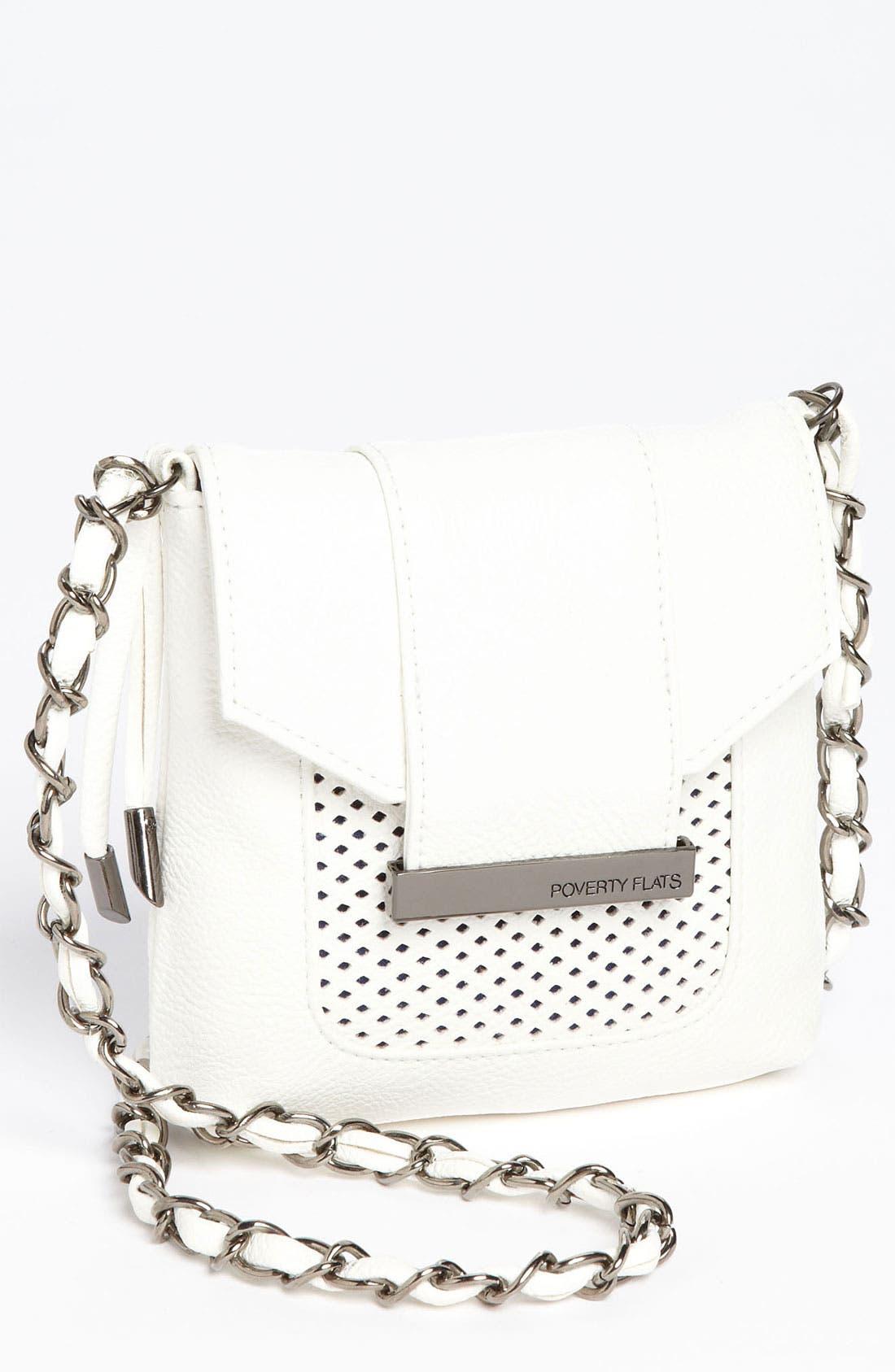Main Image - POVERTY FLATS by rian 'Mesh Detail - Mini' Crossbody Bag