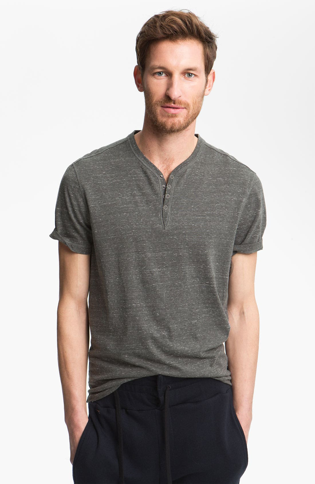 Main Image - John Varvatos Star USA Trim Fit Cotton Henley T-Shirt