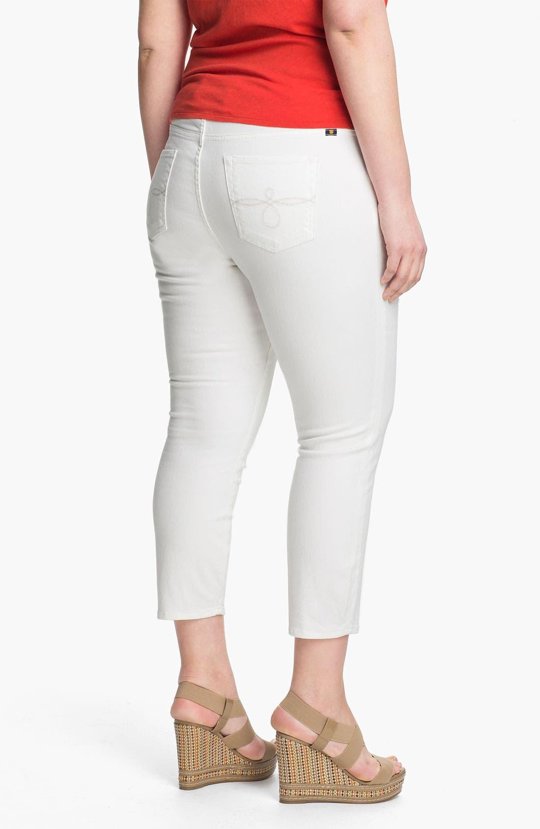 Alternate Image 2  - Lucky Brand 'Ginger' Skinny Capri Jeans (Plus)