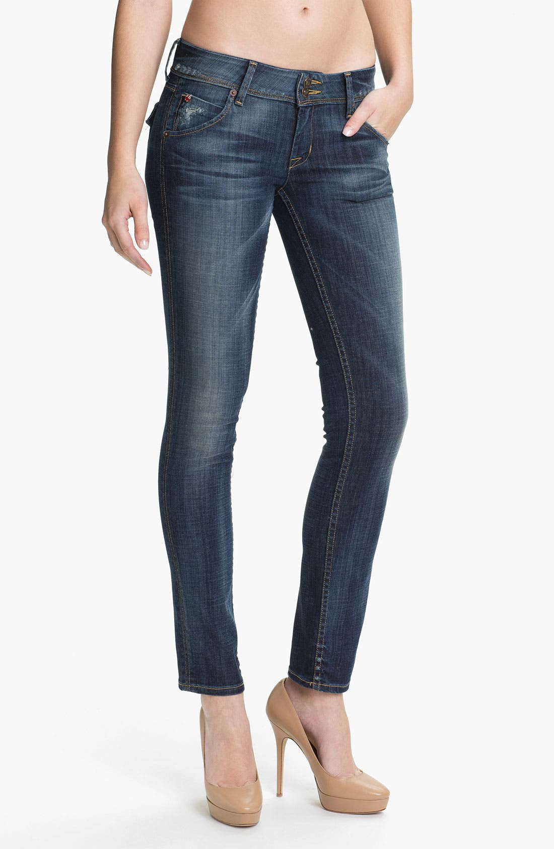 Alternate Image 1 Selected - Hudson Jeans Skinny Stretch Jeans (Whitcomb)