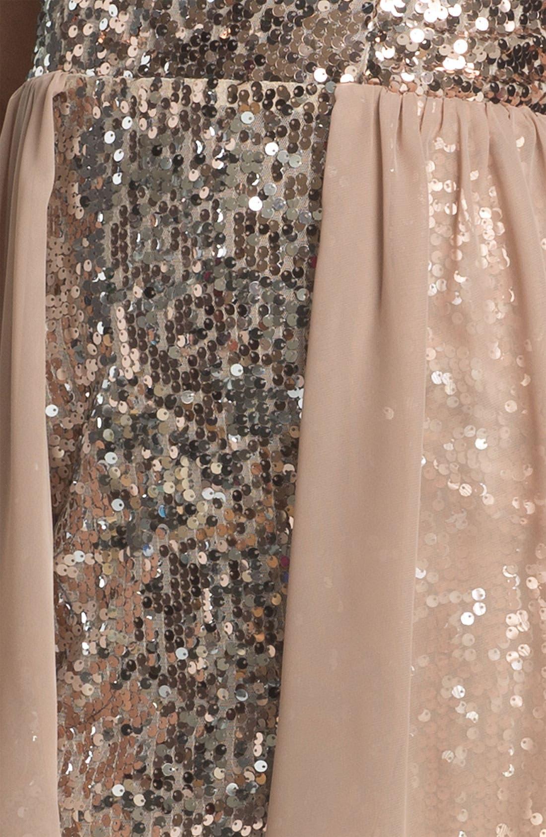 Alternate Image 3  - Way-In Sequin Chiffon Overlay Dress (Juniors)
