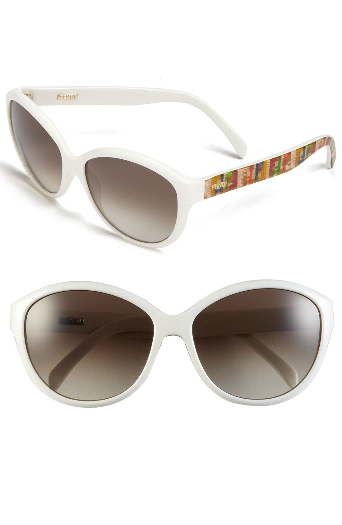 'Technicolor' 58mm Sunglasses,                         Main,                         color, White