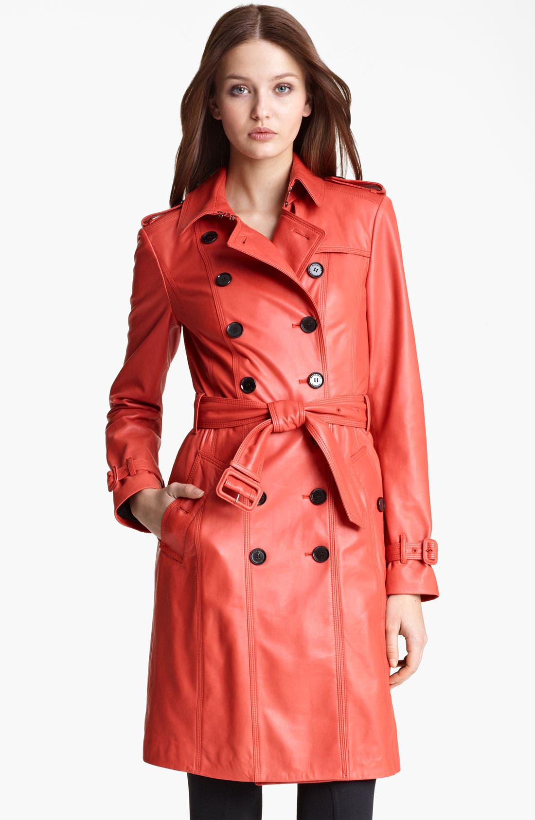 Alternate Image 2  - Burberry London Lightweight Leather Trench Coat