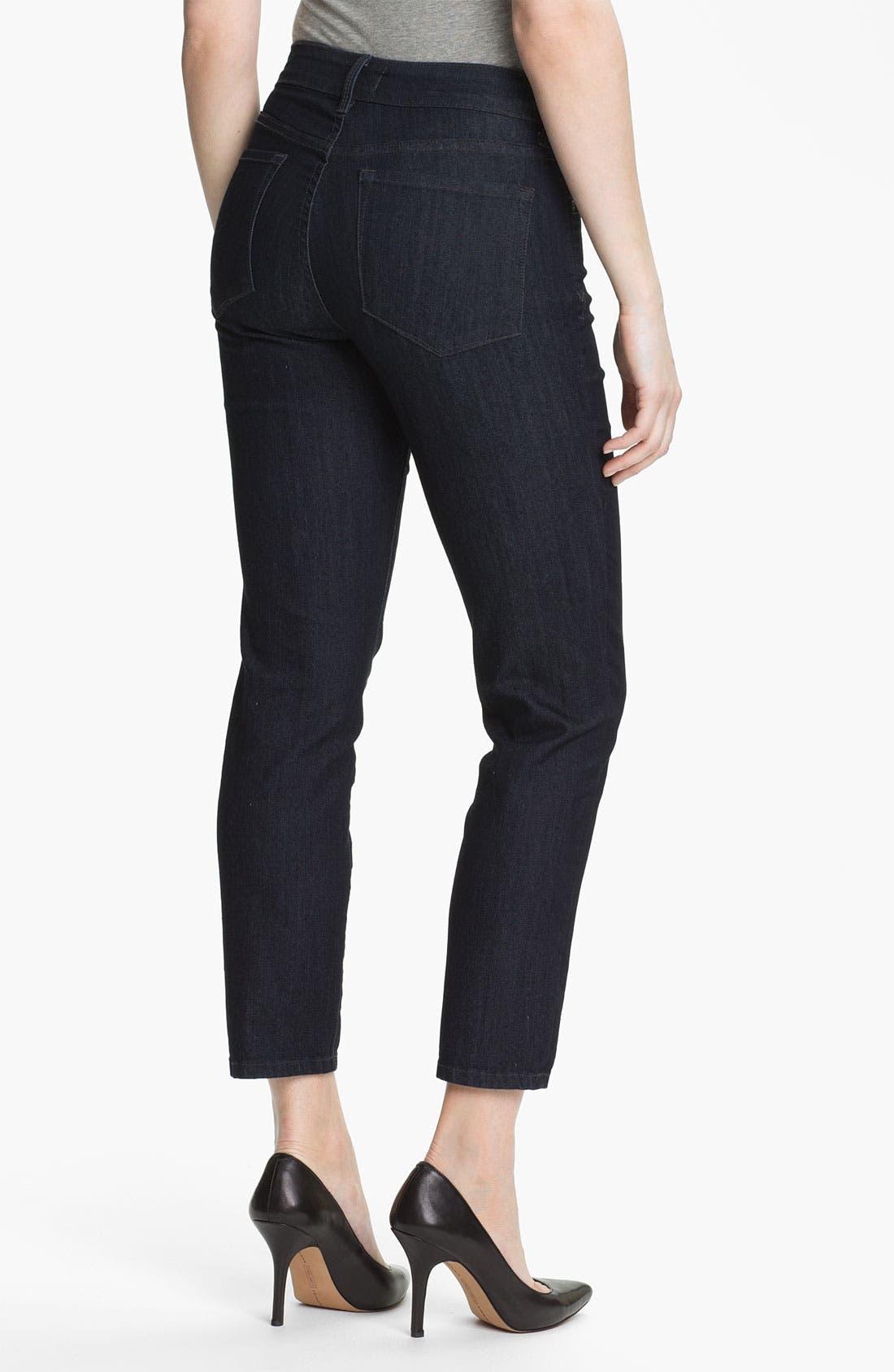 Alternate Image 2  - NYDJ 'Alisha' Stretch Skinny Jeans (Petite)