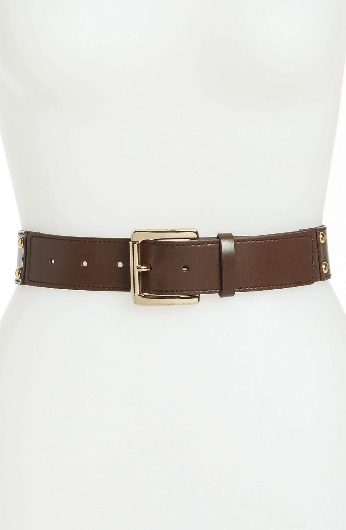 Alternate Image 1 Selected - MICHAEL Michael Kors Studded Stretch Belt