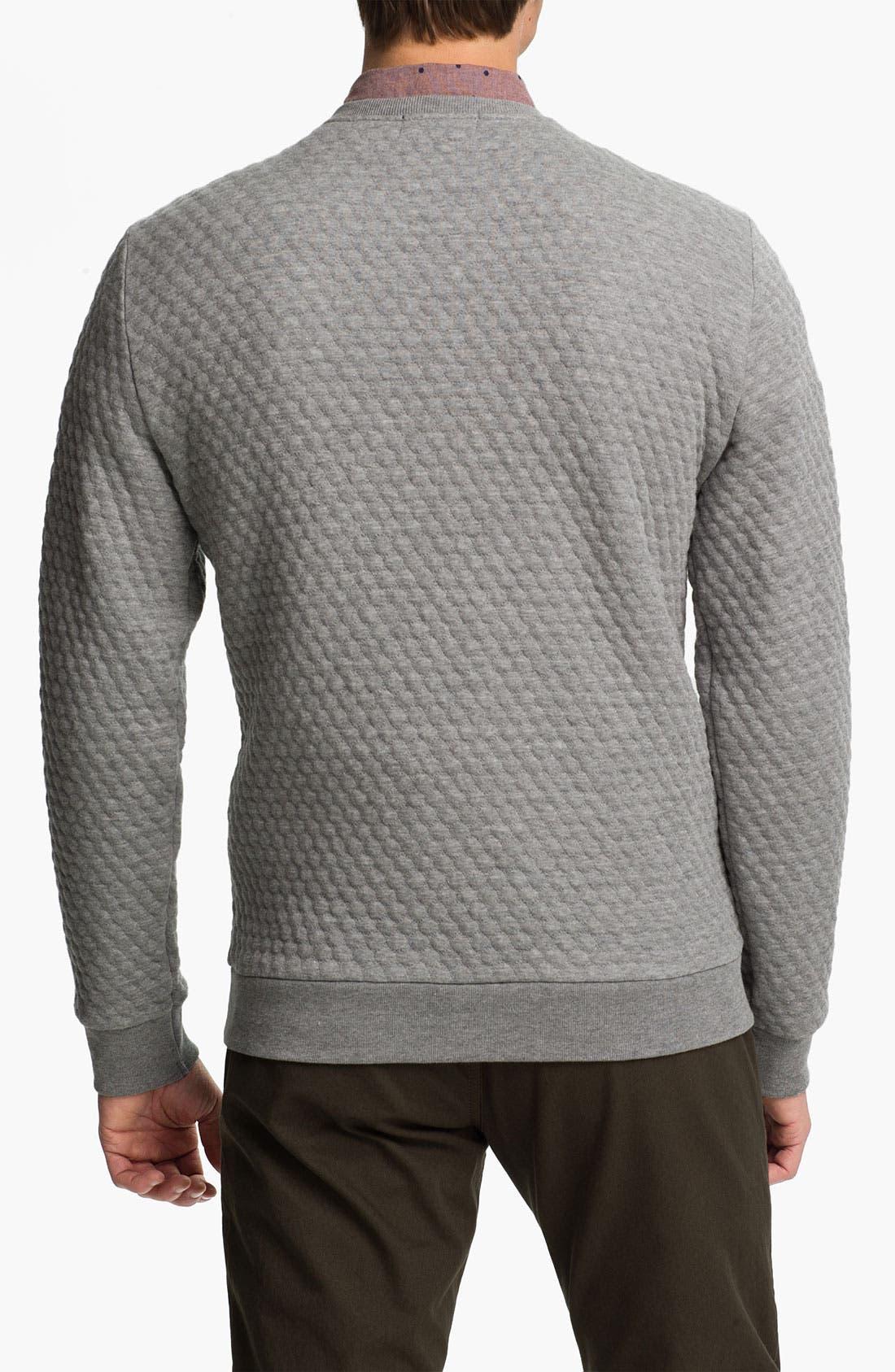 Alternate Image 2  - Topman Quilted Crewneck Sweatshirt