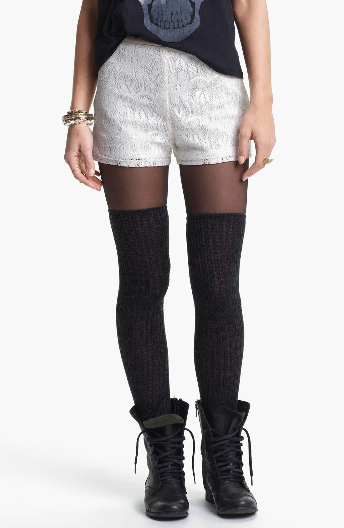 Main Image - Mimi Chica Lace Shorts (Juniors)