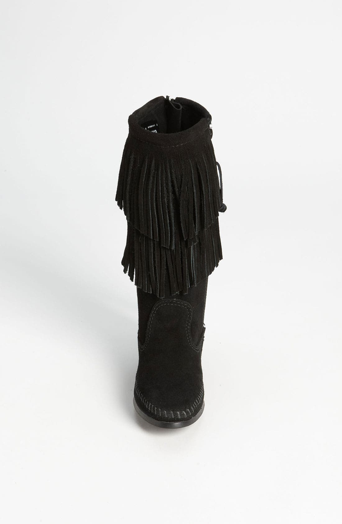 Alternate Image 3  - Minnetonka Two Layer Fringed Boot