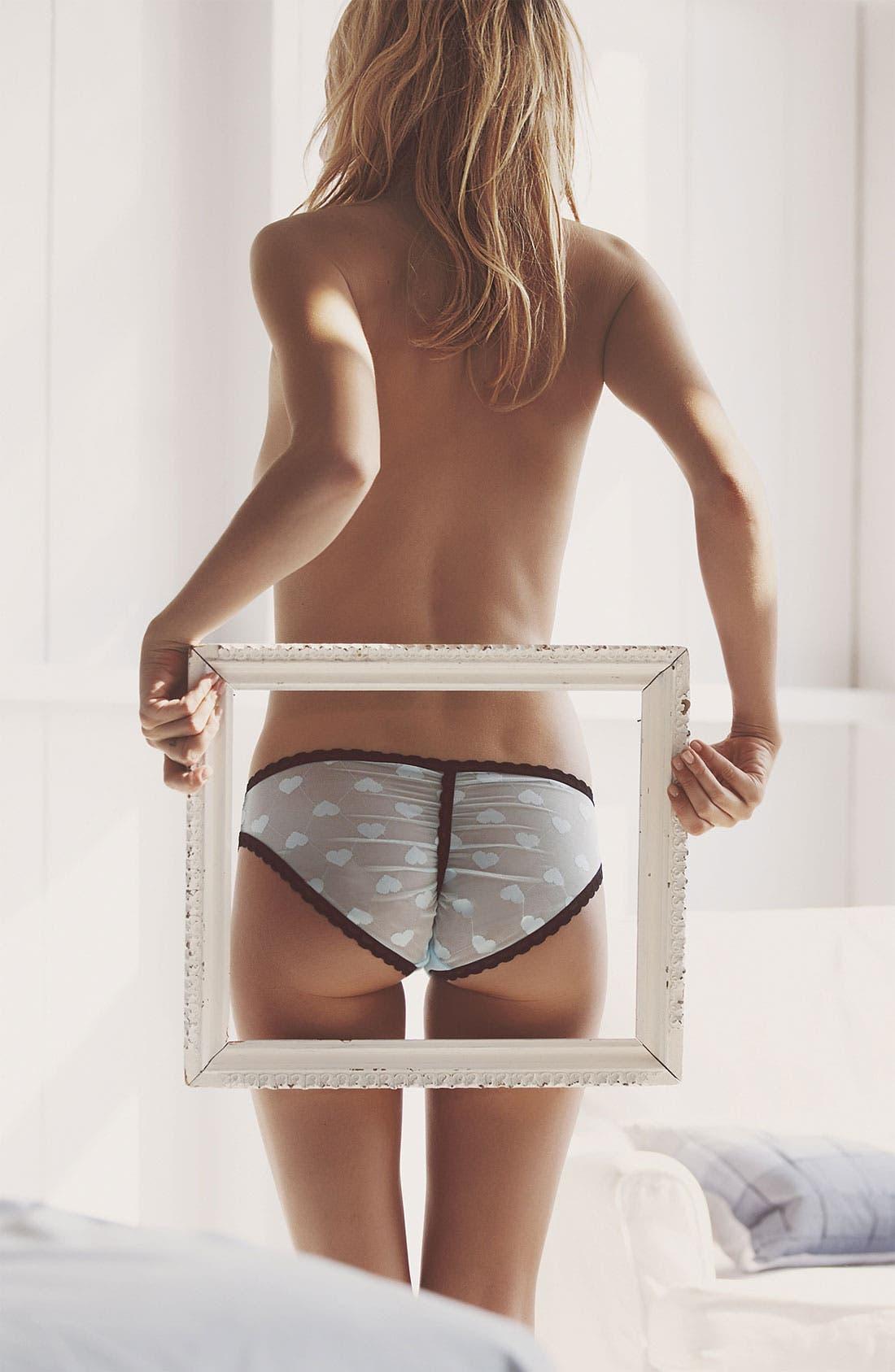 Alternate Image 4  - Betsey Johnson 'Heartbeat' Lace Trim Bikini (3 for $27)
