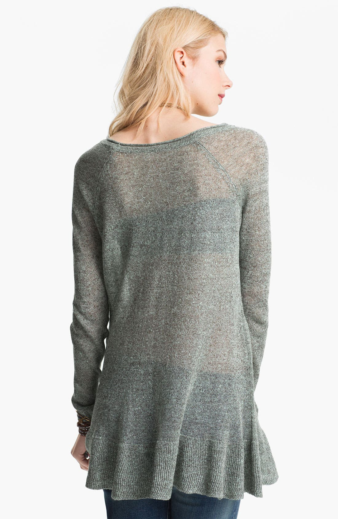 Alternate Image 2  - Free People Sheer Linen Tunic Sweater