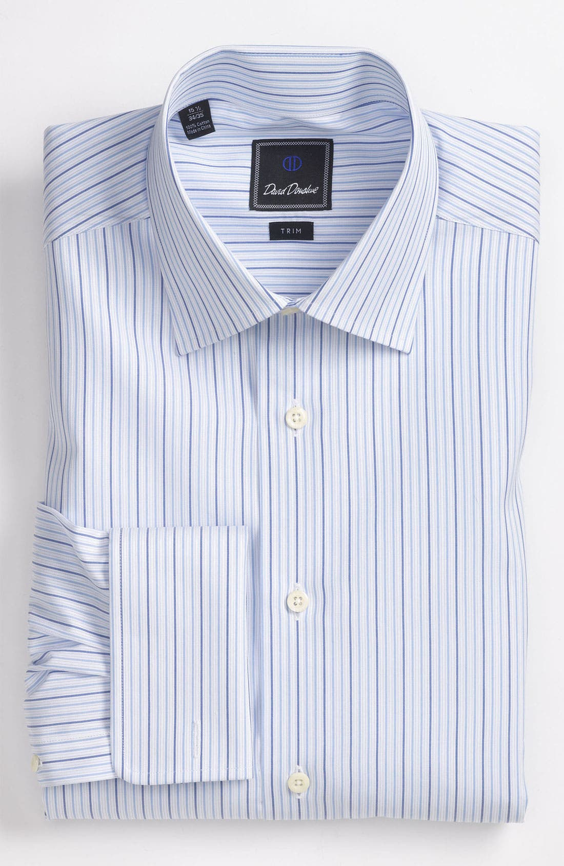 Main Image - David Donahue Trim Fit Dress Shirt