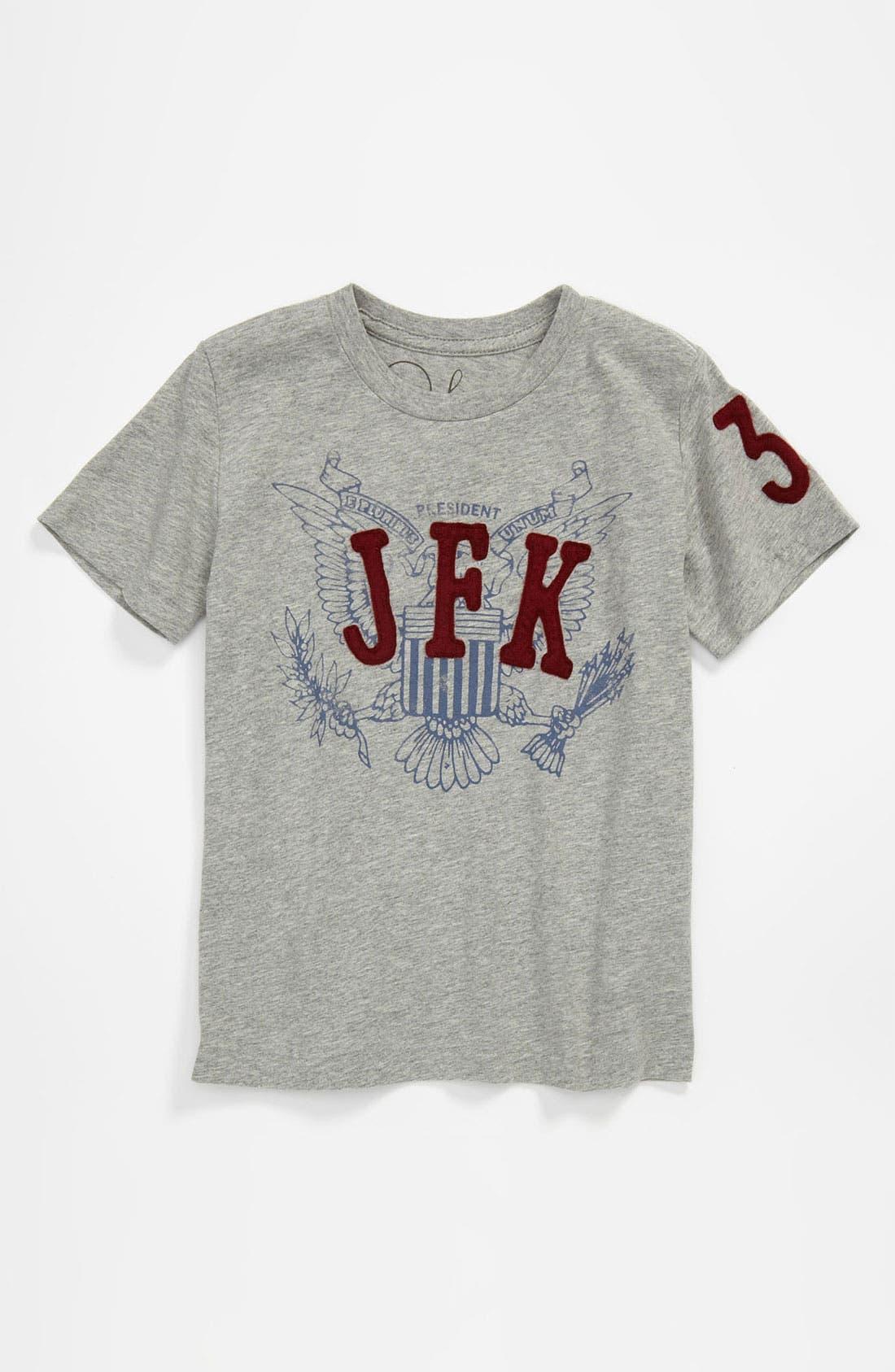 Alternate Image 1 Selected - Peek 'JFK' T-Shirt (Little Boys & Big Boys)