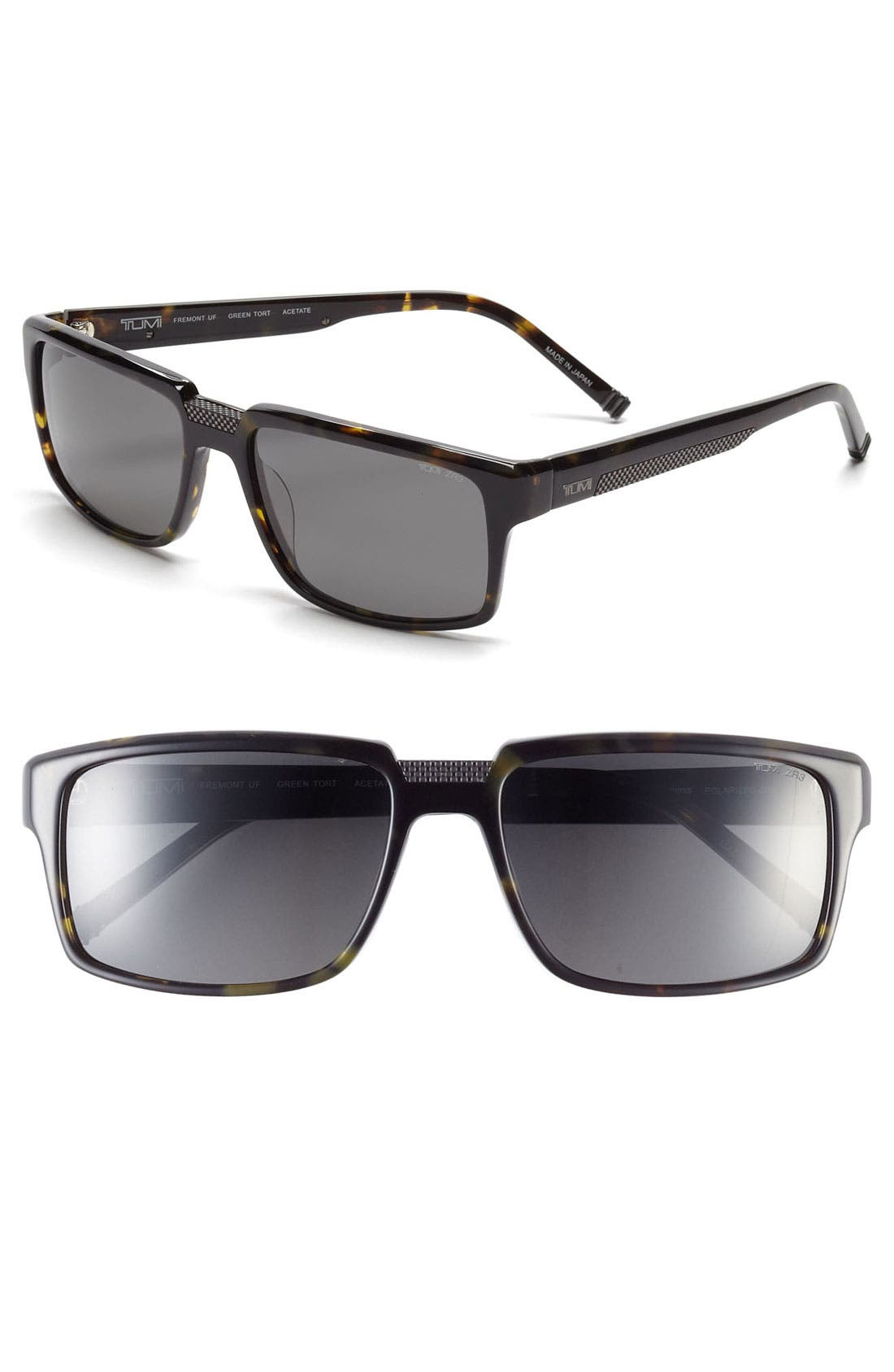 Main Image - Tumi 'Fremont' 58mm Polarized Sunglasses