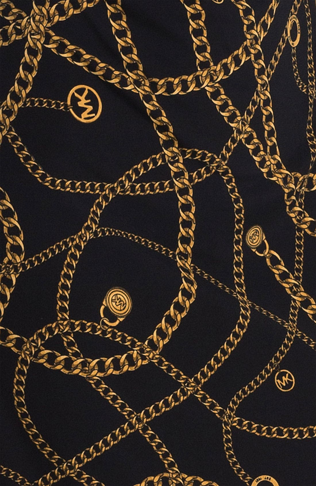 Alternate Image 3  - MICHAEL Michael Kors 'Hamilton' Chain Print Dress (Petite)