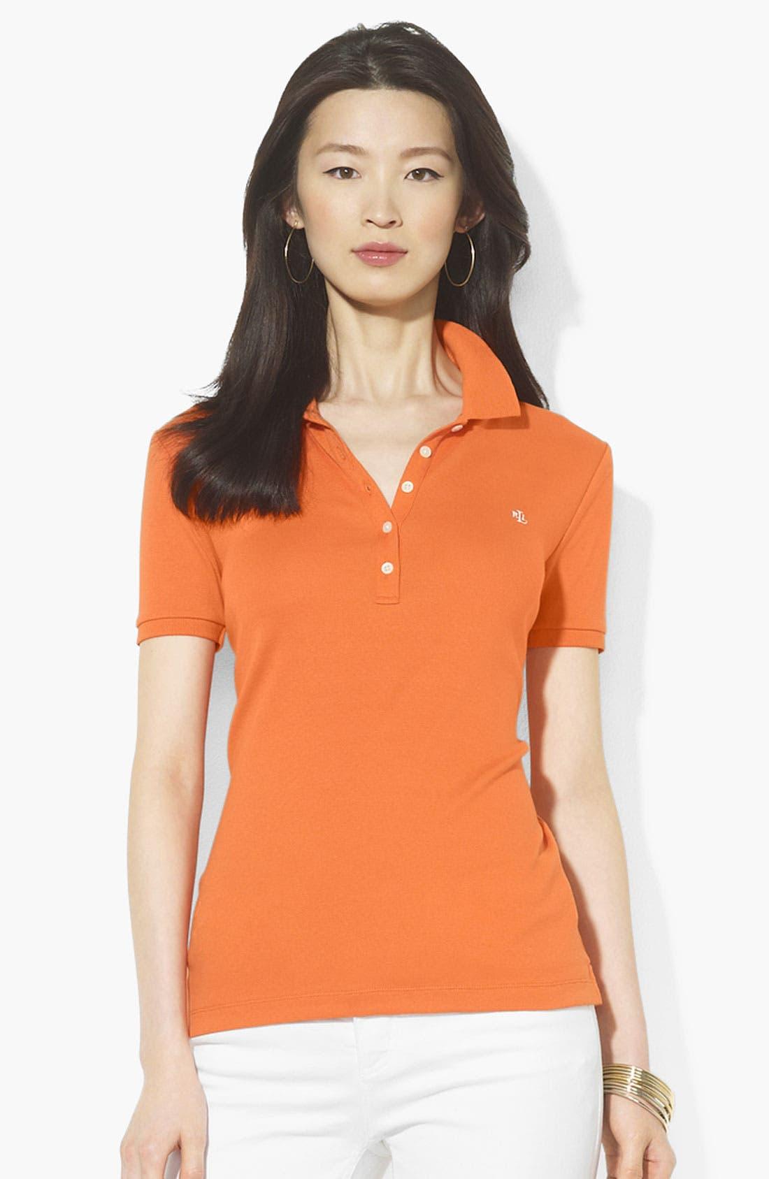 Main Image - Lauren Ralph Lauren Short Sleeve Polo