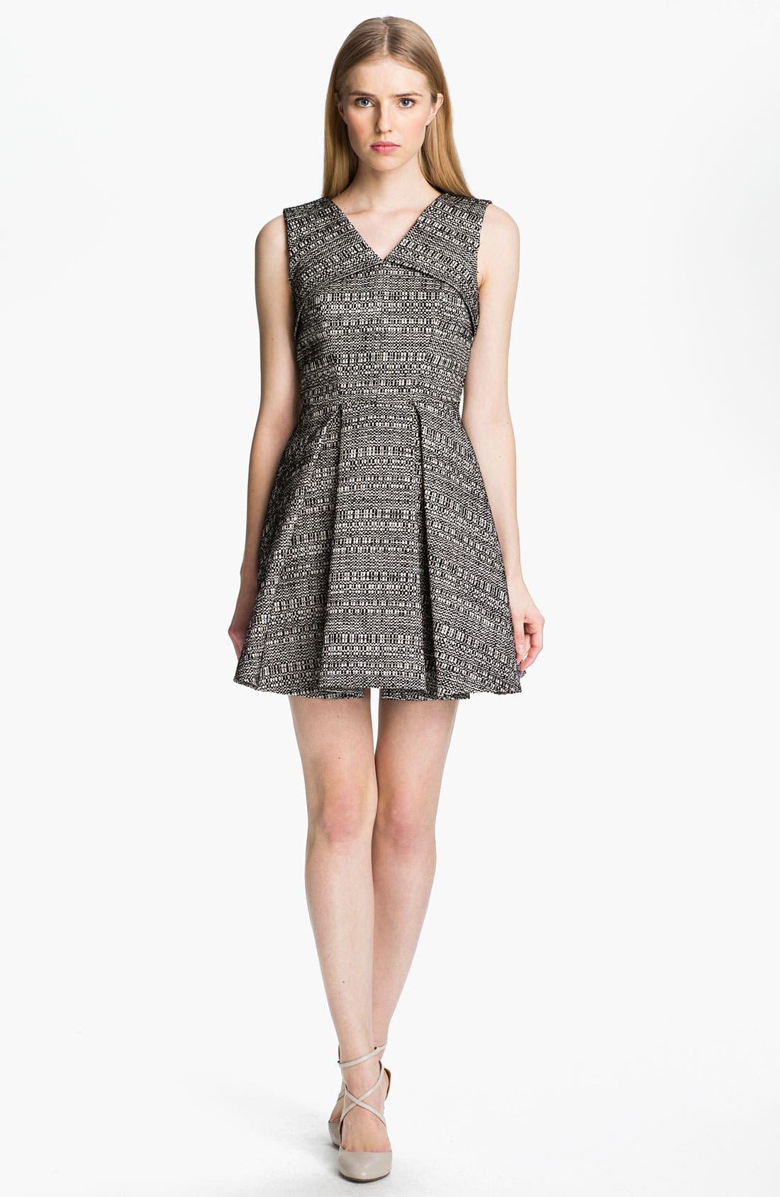 Main Image - Robert Rodriguez Raffia Tweed Dress