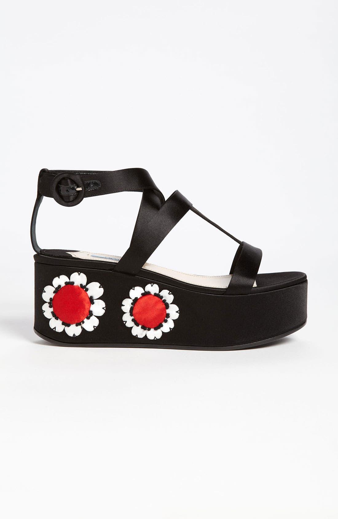 Alternate Image 4  - Prada Floral Platform Sandal