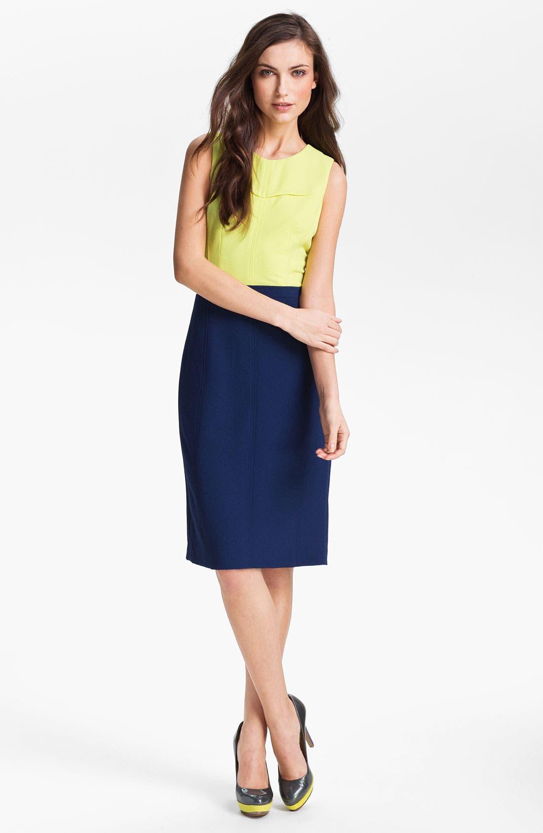 Main Image - BCBGMAXAZRIA Two Tone Sheath Dress