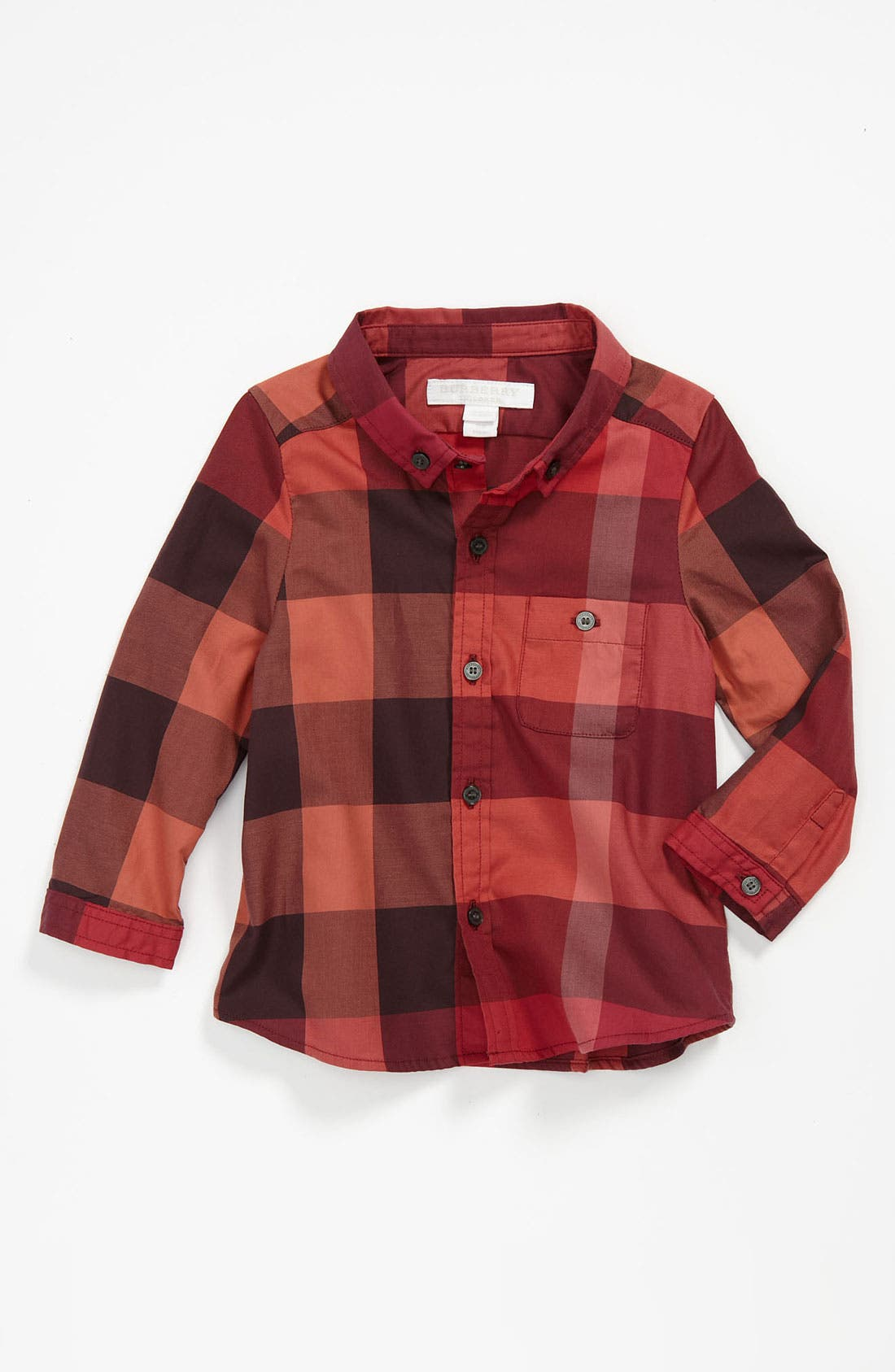 Main Image - Burberry 'Trauls' Woven Shirt (Infant)