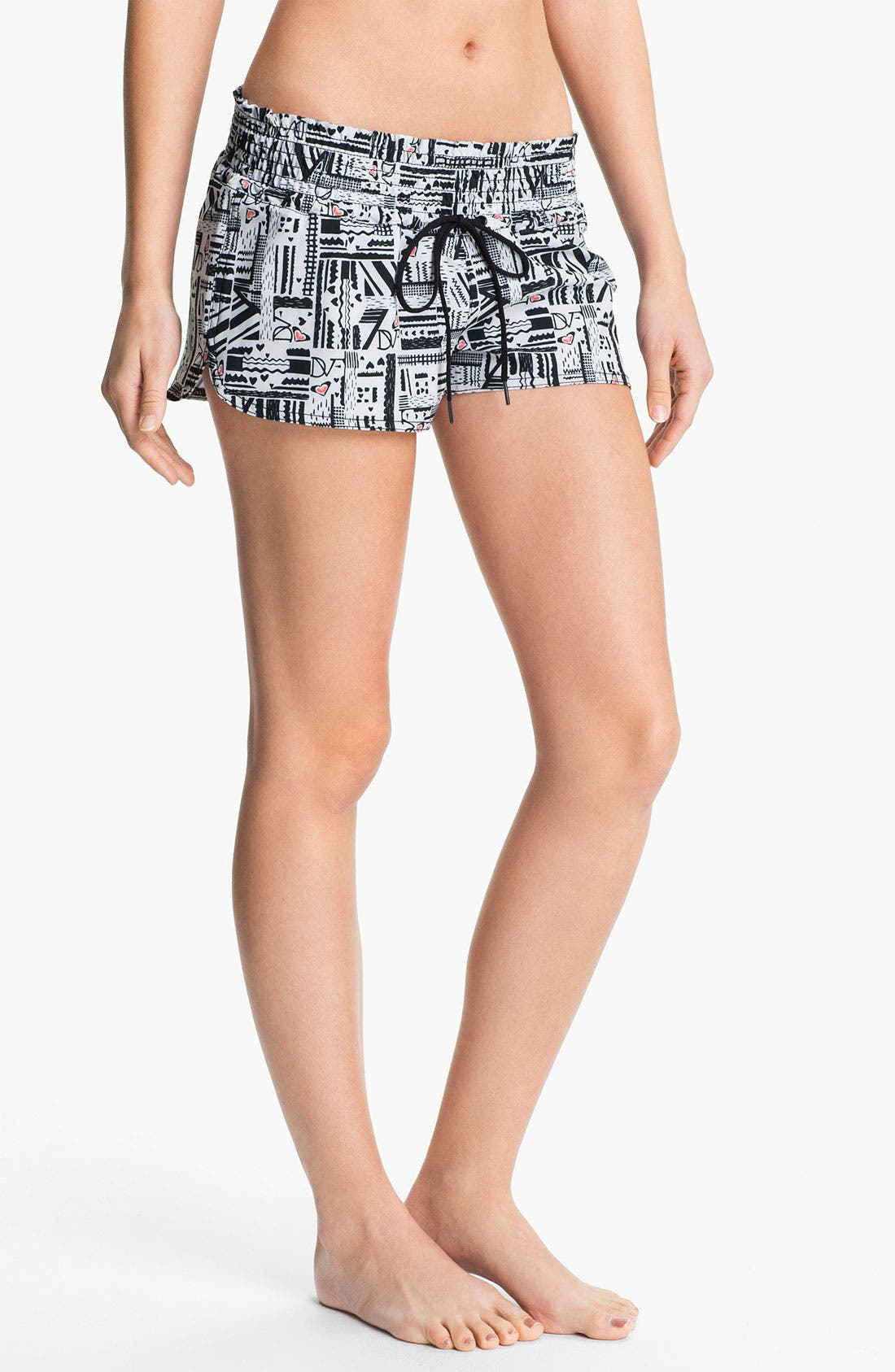 Alternate Image 1 Selected - 'DVF Loves Roxy - Free Fall' Board Shorts