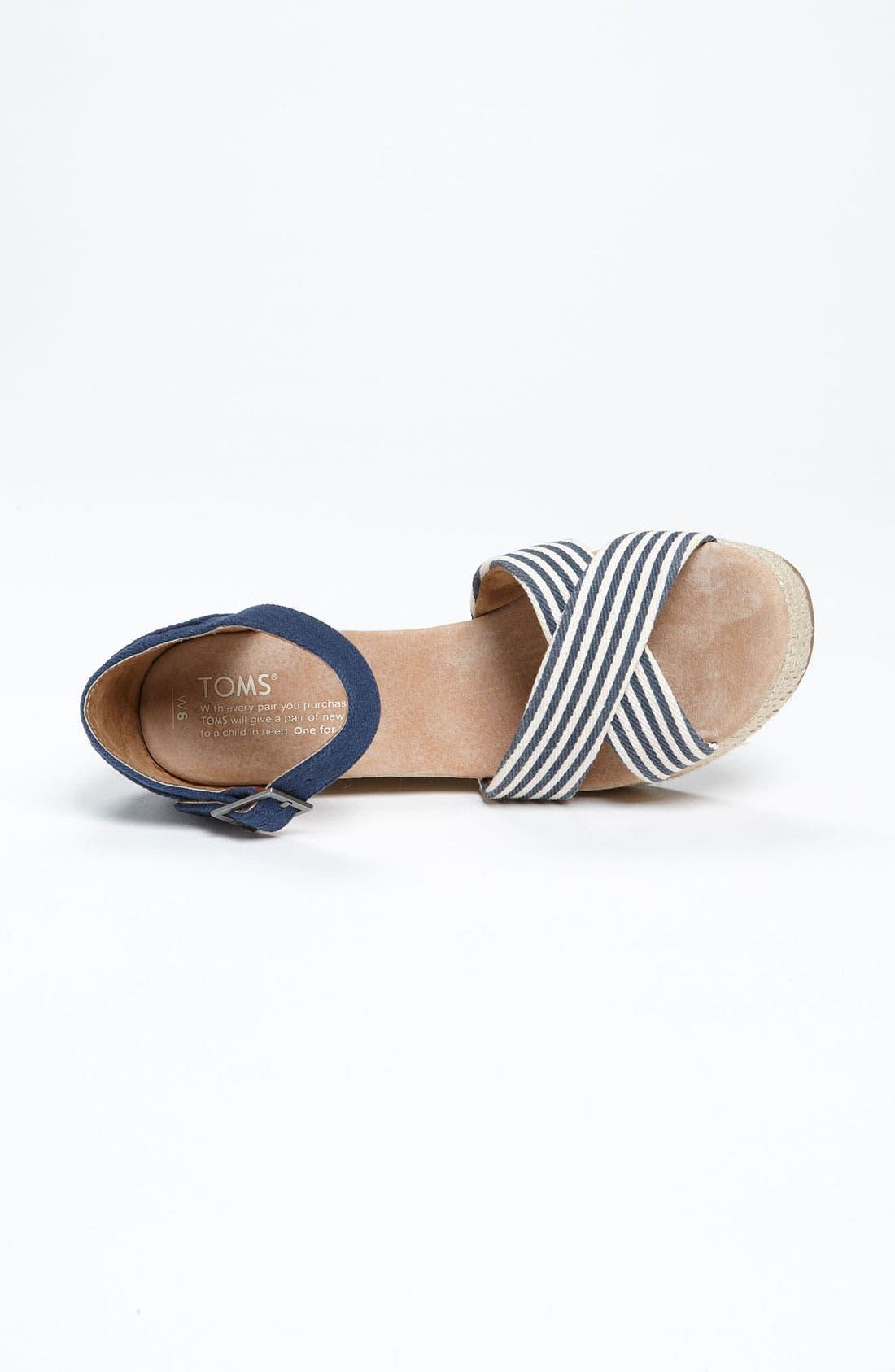 Alternate Image 3  - TOMS 'University Stripe' Sandal