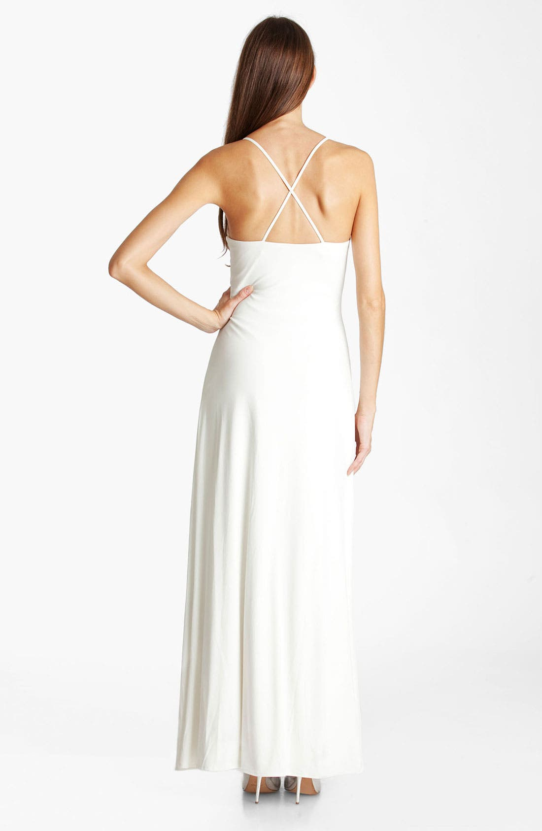 Alternate Image 2  - JS Boutique Embellished Ruched Jersey Gown