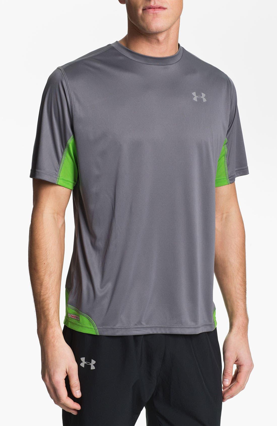 Alternate Image 1 Selected - Under Armour 'Run' HeatGear® Flyweight T-Shirt