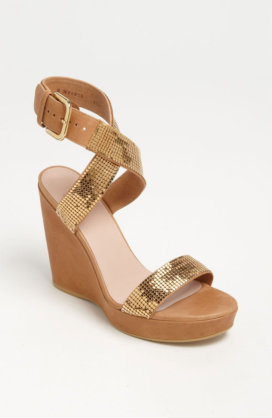 Alternate Image 1 Selected - Stuart Weitzman 'Metalmania' Wedge Sandal