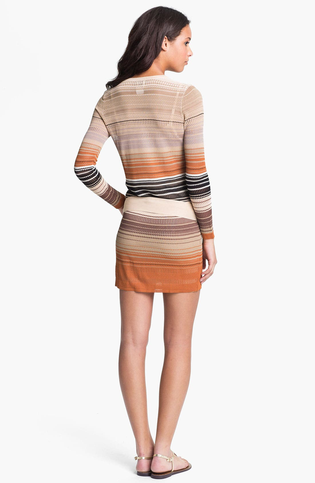 Alternate Image 2  - Haute Hippie Stripe Pointelle Knit Dress